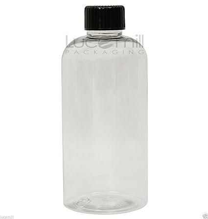 250 x 250 ml Botellas pet de plástico con negro Bote de tapones de rosca