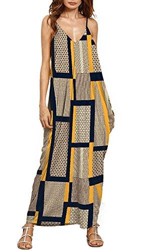 Strap Dress Maxi Anatoky Spaghetti Tie Women's Xb Dyed Boho Egw0qwZ