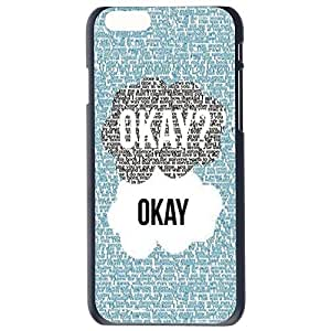 Generic Luxury Okay OK Black Sides Slim Hard Plastic Case For iPhone 6 (4.7 Inch Screen) Skin Cover Protector Accessory