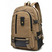 Lixmee Canvas Leather Pockets Backpack