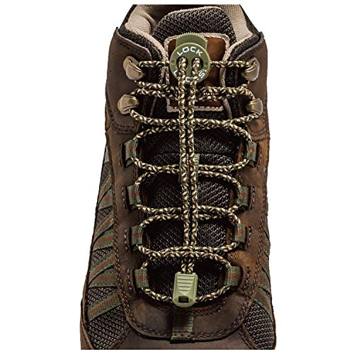 LOCK LACES for Boots (1 Pair) Premium Heavy Duty Elastic No Tie Boot Laces for Boots and Shoes (Camo) ()