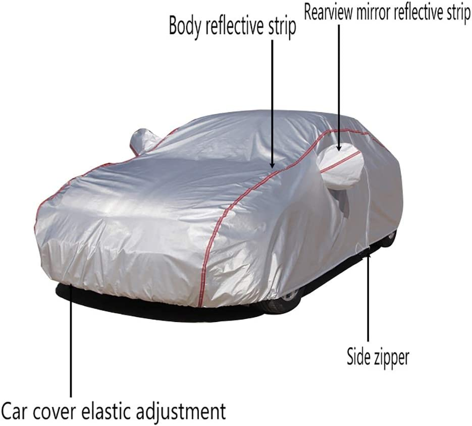 Color : Silver Car cover Compatible with Chevrolet Monte Carlo car cover Four Seasons Universal Oxford Cloth Material Zipper Type UV Waterproof dust Cover car car Clothing car cover Outdoor