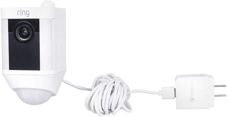 Koroao 20ft//6m Power Adapter for Ring Spotlight Cam Battery Extra Long Charging Cable and Fast Charging Power Supply