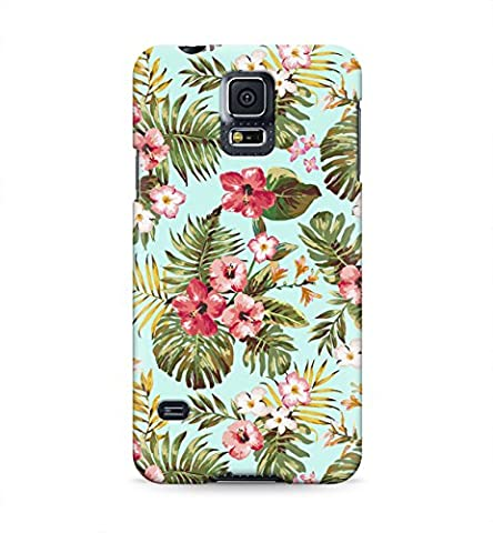 Tropical Flowers Floral Print Hawaii Aloha Hype Hard Plastic Snap-On Case Cover For Samsung Galaxy (Samsung Galaxy S5 Cases Hawaii)