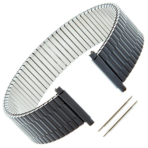 Gilden Custom Length Gents Expansion 17-22mm Black Stainless Steel Watch Band 552-B-3