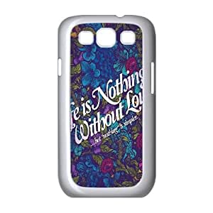Samsung Galaxy S3 9300 Cell Phone Case White Life Is Nothing D2Z4DW