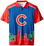 FOCO Chicago Cubs Polyester Short Sleeve Thematic Polo Shirt Medium