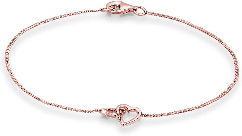 Elli Pulseras para dama con diseño en corazón en plata de ley 925