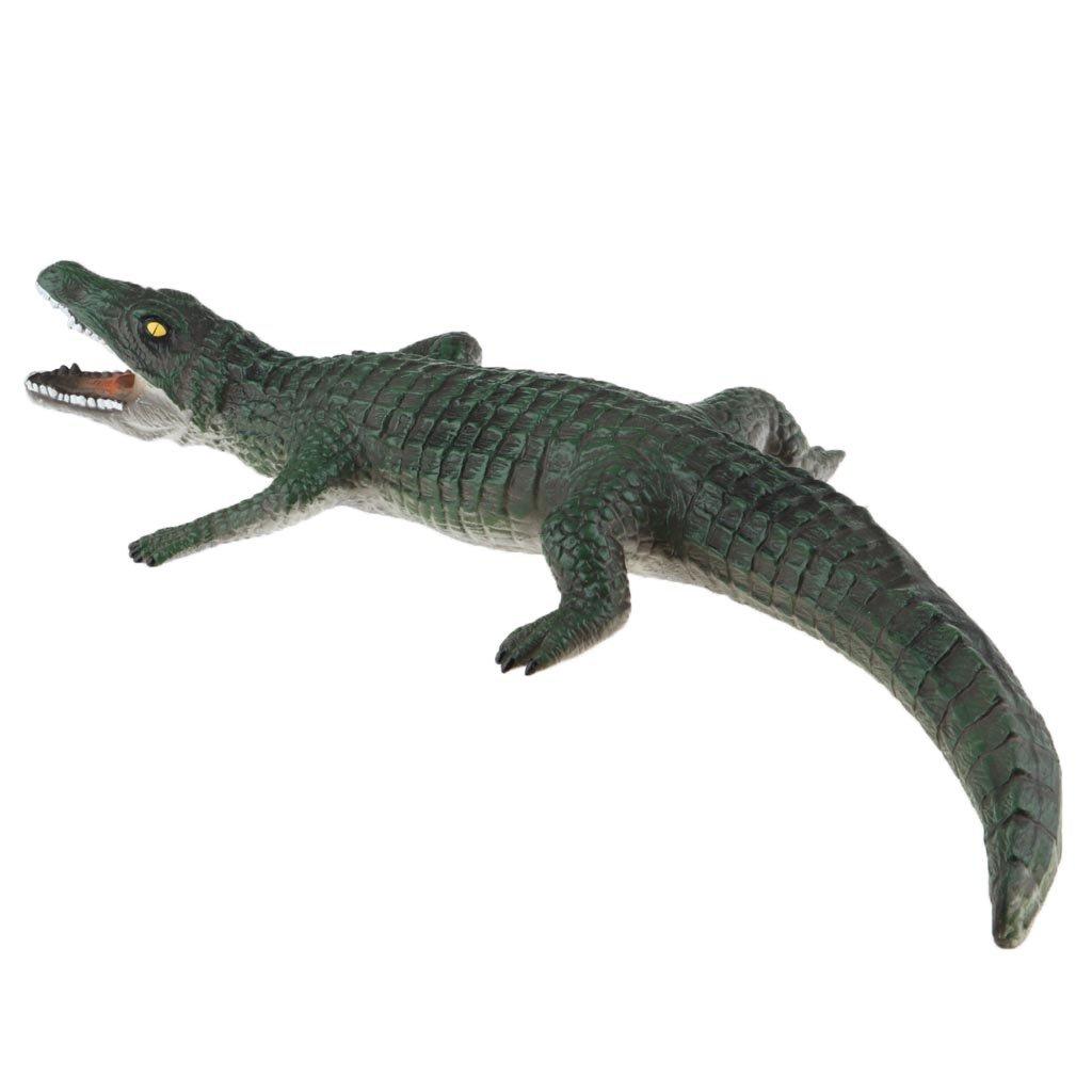 Große Kunstoff Krokodil Modell Deko Figuren Teichfiguren Gartenfiguren