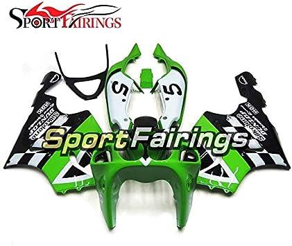 Silkolene Green Black Sportbikefairings Complete Fairing Kit For ZX7R ZX-7R 1996-2003 97 98 99 00 01 02 03 ABS Plastic Motorcycle Bodywork Body Frames