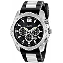 GUESS Men's U0167G1 Analog Display Quartz Black Watch