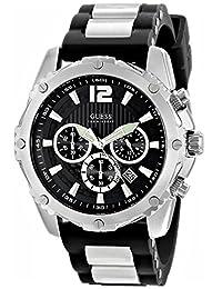 GUESS Men's U0167G1 Analog Display Quartz Black Watch