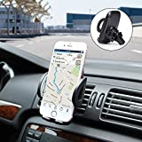 Air Vent Phone Holder, Amoner Car Mount with Quick Release Button Adjustable Clamp for iPhone X/8/8 Plus/7/7 Plus/6s/6s Plus/5s, Samsung Galaxy S9/S8/S7/S6/S5, LG, Huawei and More