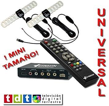 Sintonizador de TDT MPG4 de DOBLE DIVERSIDAD + Reproductor de música y vídeos por USB.: Amazon.es: Electrónica
