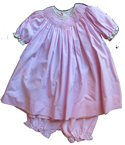 Petit Ami Smocked Pink Gingham Dress w/Matching Bloomers 9 Month #2266
