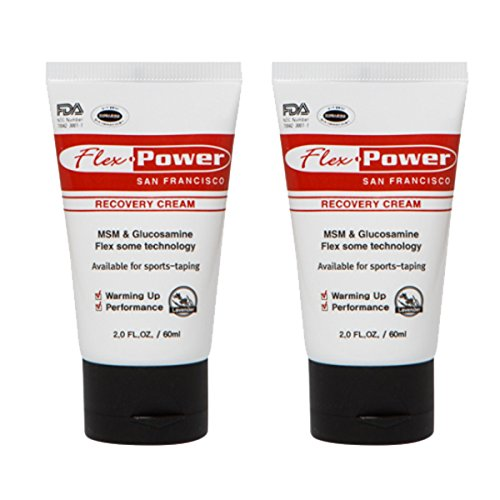Flex Power, Pain Relief Cream 60ml, 2oz (Pack of 2) (Fluid Action Joint Therapy)