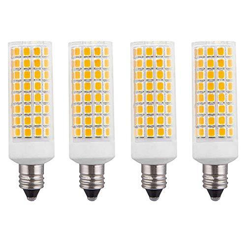 E11 led Bulb 75W 100W Equivalent Halogen Replacement Lights, Dimmable T4 JD e11 Mini Candelabra Base, 1000 Lumens Warm White 2700K, AC110V/ 120V/ 130V (4 Pack in a Box)