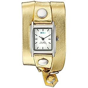 La Mer Collections WANDER LUST 00002 0.5mm Leather Synthetic Gold Watch Bracelet