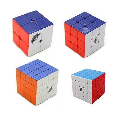 I-xun Set Cyclone Boys 2x2x2 3x3x3 4x4x4 5x5x5 Stickerless Magic Cubes Puzzle True Color Speed Cube Pack