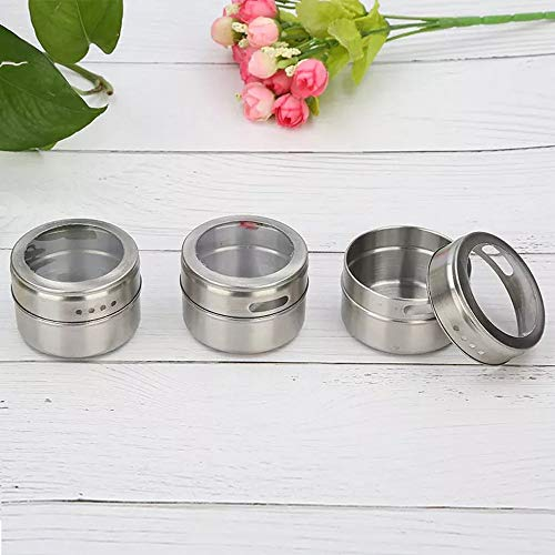 Xeminor 1PCS Stainless Steel Spice Jar Multi-function Spice Tin Seasoning Tank Kitchen Supplies for Salt Pepper Herbs Storage Silver by Xeminor (Image #6)