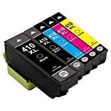 Colour-Store 5-pack High Yield Replacement for Epson 410XL 410 XL Ink Cartridges (1 Black, 1 Photo Black, 1 Cyan, 1 Magenta, 1 Yellow), Compatible with Epson XP-830 XP-630 XP-640 XP-530 XP-635 Printer