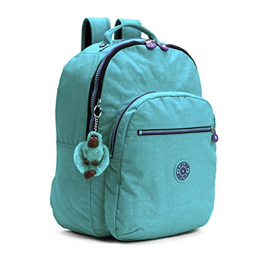 Kipling Seoul Backpack, Cool Turquoise Contrast Zip, One Size by Kipling (Image #6)