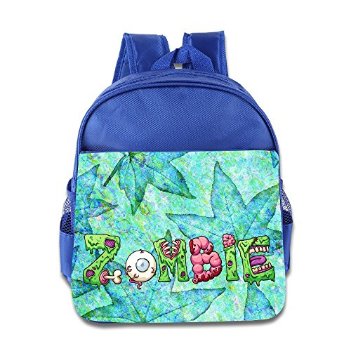 Logon 8 Zombie Halloween Logo Cool School Bags RoyalBlue For 3-6 Years Olds -