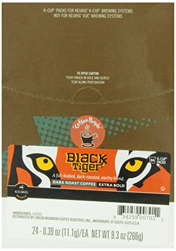 Coffee People Black Tiger Dark Roast, 24-Count K-Cup Portion Pack for Keurig Brewers (Black Roast)