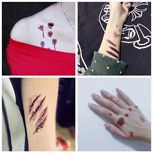 30pc de Halloween Tatuaje Temporal a Prueba de Agua para señora ...