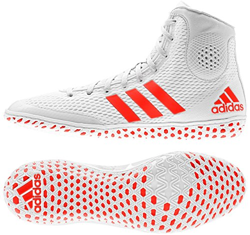 Adidas Tech Fall 16 Ringerschuhe / Ringer Schuhe / Wrestlerschuhe / FARBAUSWAHL /GRÖßENAUSWAHL (weiß-orange, 47 1/3)