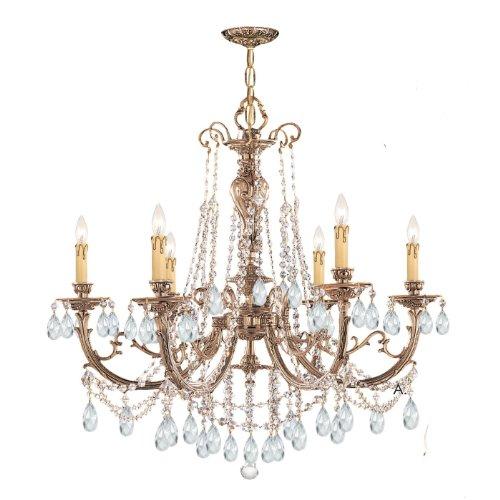 Olde World 6 Light Candle Chandelier Crystal: Swarovski Strass ()