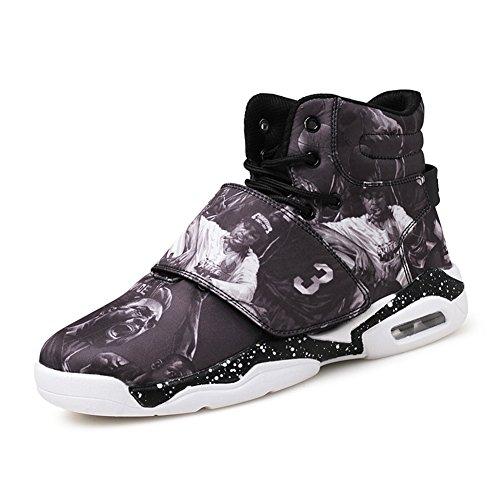 Casual Shock Absorption Wearable Antideslizante Zapatillas De Running Zapatillas De Entrenamiento Comfortable Sneakers Black / Red / Grey Black