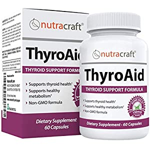 ThyroAid #1 Thyroid Support Supplement | Natural Herbal Thyroid Formula with Iodine (Kelp), Ashwagandha (Withania), L…