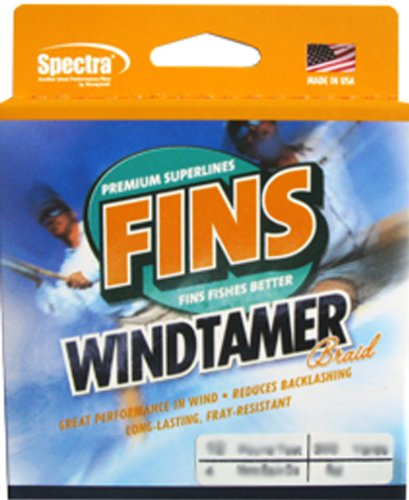 Fins Spectra 500-Yards Windtamer Fishing Line, Yellow, 50-Pound