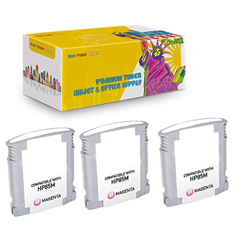 New York TonerTM New Compatible 3 Pack C9429A HP 85 High Yield Inkjet For HP Designjet 30 | 130 . -- Light Magenta