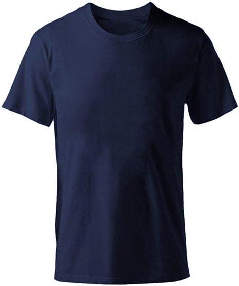 DSHRTY Top de Verano,Camiseta de Color Liso Camisetas de algodón para Hombre Camiseta de Manga Corta de Verano Camiseta de niño Tops Tallas Grandes XS-M-XL: Amazon.es: Deportes y aire libre