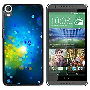 Paccase / SLIM PC / Aliminium Casa Carcasa Funda Case Cover para - Green Bright Dots Spots Abstract - HTC Desire 820