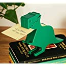 Memo Holder Desktop Note pad Dispenser Dinosaur Pen Holder Multi-Functional Clip for Note Short Note pad,2 Packs Memo (Dinosaur, Green)