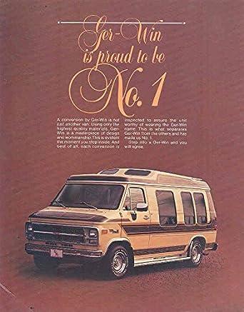GMC Ger Win Conversion Van Camper Brochure