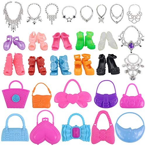 EC2TOY 10 Bags + 10 Necklace + 10 Shoes 11.5 inch Accessories Set Pack for 11.5 Inch Doll Party Gifts for Girls