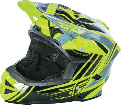 Fly Racing Unisex-Adult Full-Face-Helmet-Style Default Helmet (Hi-Vis/Black, Youth Medium)