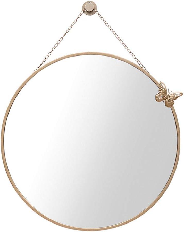 GYX-ラウンドミラー ウォールミラー壁掛けラウンド金属ガラスの縦のファッションシックなフレーム40/60/70センチメートル/バスルーム/洗面化粧台/ホーム/ゴールド 化粧鏡