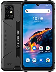 """UMIDIGI Bison Pro Unlocked Cell Phone,Ip68 & Ip69k Rating Rugged Phone,6.3"""" Fhd+Full Screen 48MP Camera Android11 Smartphone with 5000mah Battery, Global Version Dual 4G Volte(8+128G, Hack Black)"""