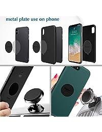 Placas de metal de montaje 6pcs, volport Disco de Metal calcomanía Sticky Pad Grueso y fuerte de repuesto para soporte magnético de teléfono celular soporte imán