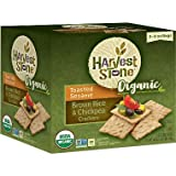 Harvest Stone Organic Crackers, Brown Rice and Chickpea, Toasted Sesame 9 oz, 2 pk. (pack of 4) A1