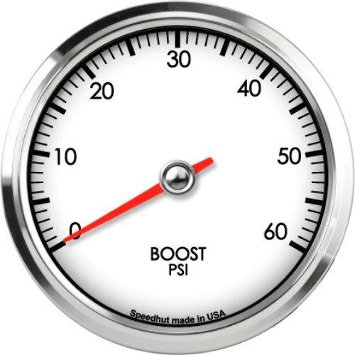 Speedhut GL33-BS02 Boost Gauge 0-60psi, 3-3/8'' by SpeedHut