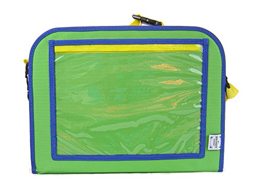 Backseat Car Organizer For Kids Holds Crayons Markers an iPad Kindle or Other Tablet. Great for Road Trips and Travel used as a Lap Tray Writing Surface or as Access to Electronics for Kids Age 3+