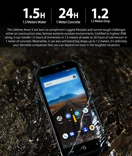 Armor X Triple Proofing Phone, 2GB+16GB, IP68 Waterproof Dustproof Shockproof, Dual Back Cameras, 5500mAh Battery, Face & Fingerprint Identification, 5.5 inch Android 8.1 MTK6739 Quad Core 64-bit up t