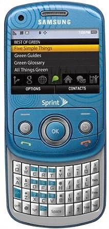 amazon com samsung reclaim m560 phone ocean blue sprint cell rh amazon com Samsung Tab E Samsung Slider Phone
