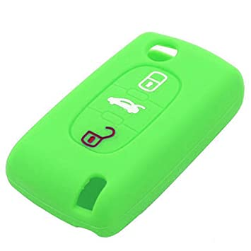 Coche silicona mando a distancia llavero carcasa para Peugeot 307 3 botones Funda para llaves de estilo de coches